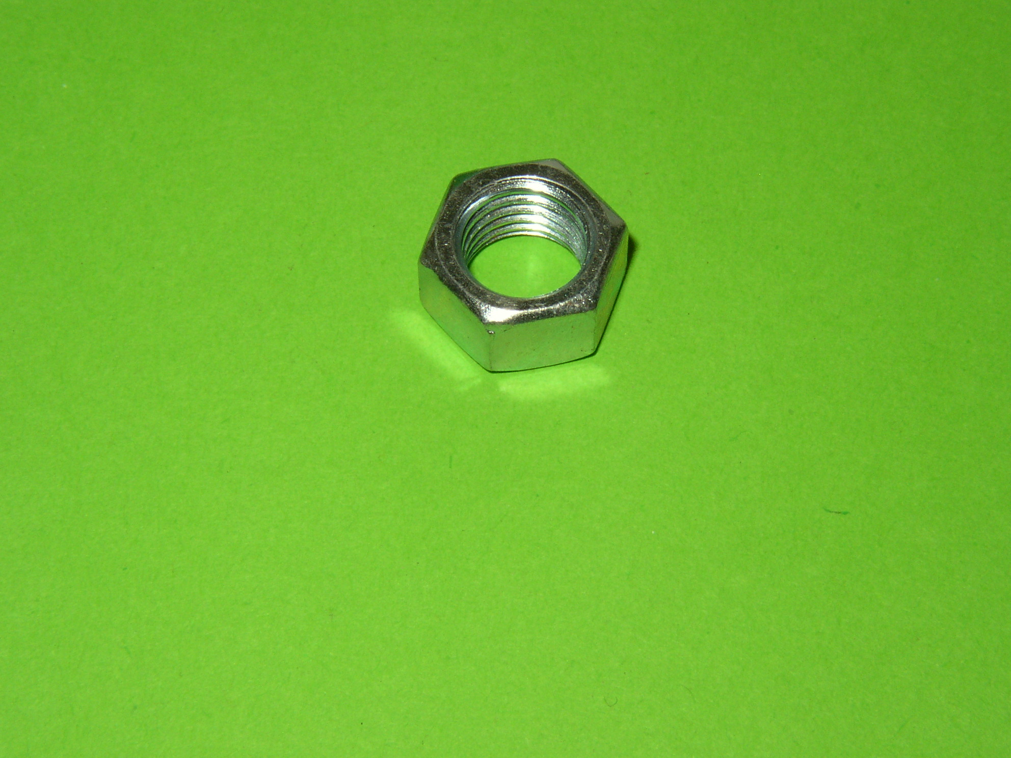 M10 BZP Plain Nut (14mm Hex)