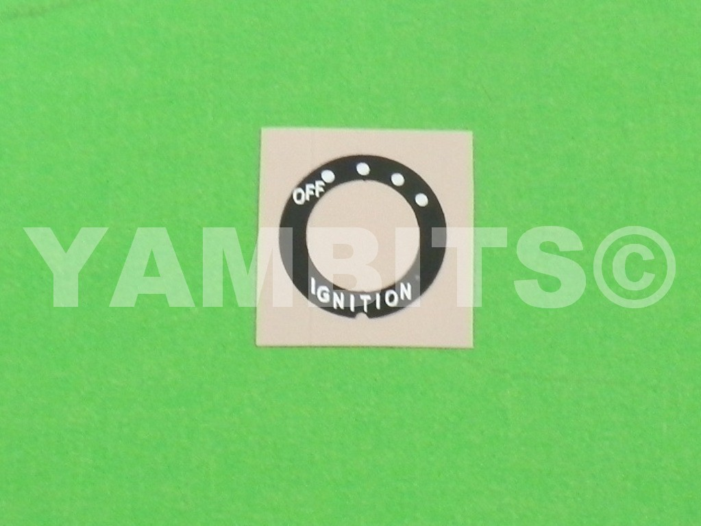 DT125E Ignition Switch Decal