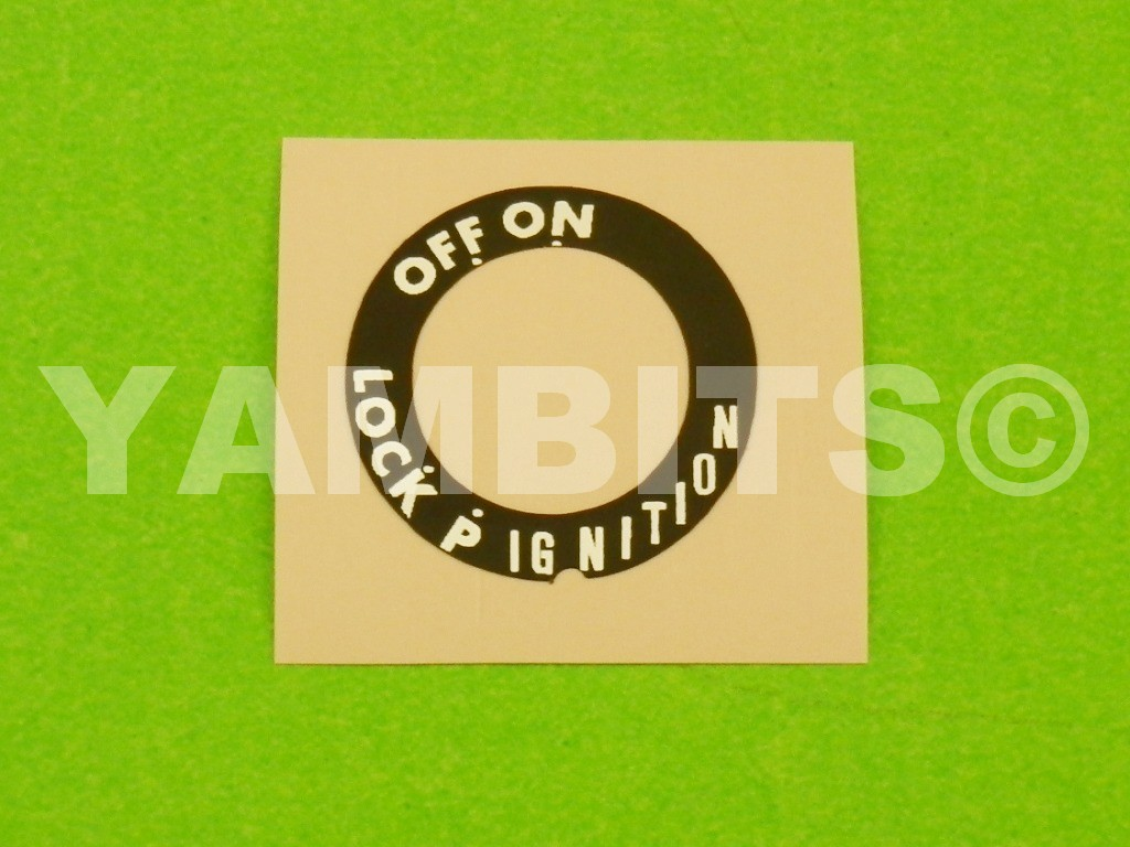 TDR240 Ignition Switch Decal