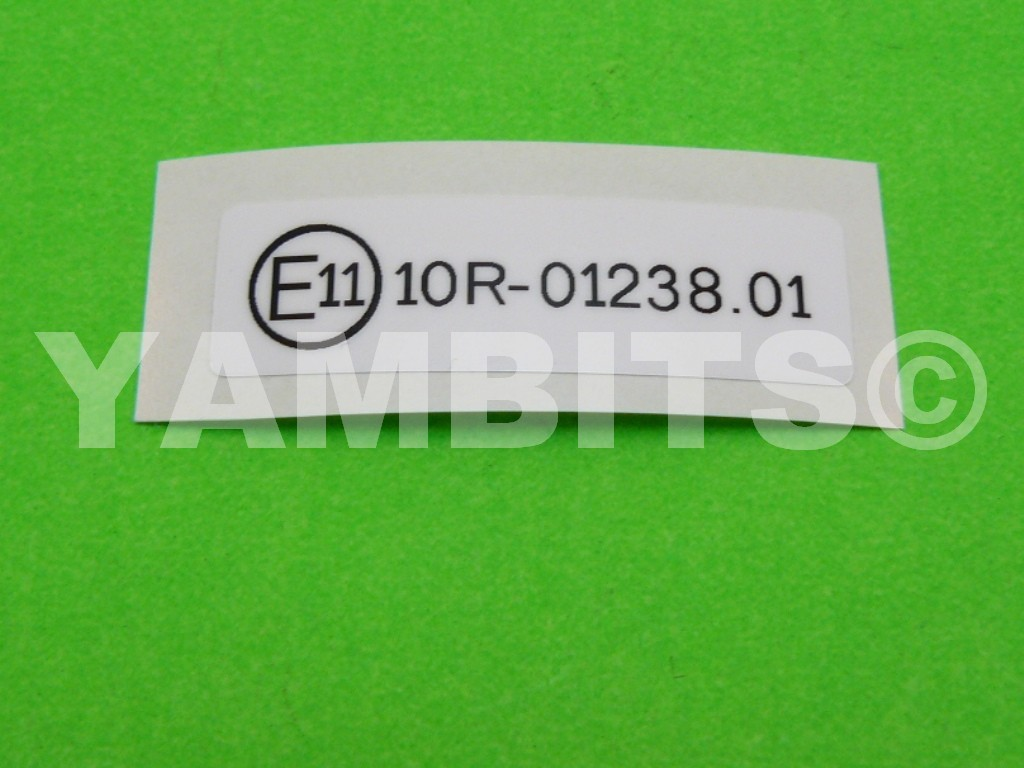Rd350lc Wiring Loom Battery Lead Wrl023 Looms Electrics Labels Tyre Information Decal E11 Frame
