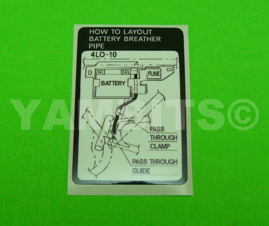 RD350LC Battery Breather Pipe Decal