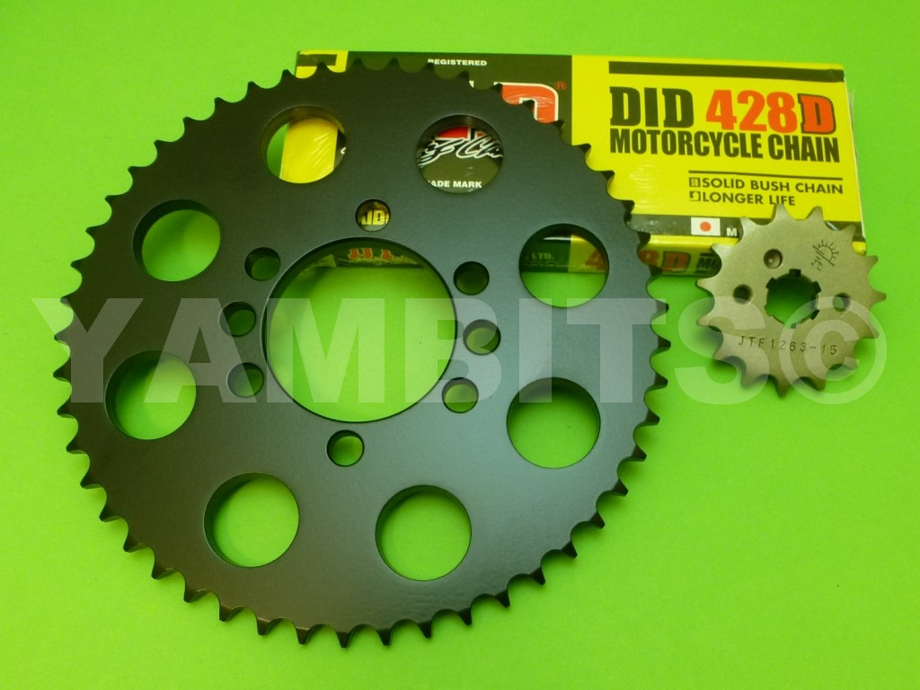 DT125LC MK1 Chain and Sprocket Kit EARLY