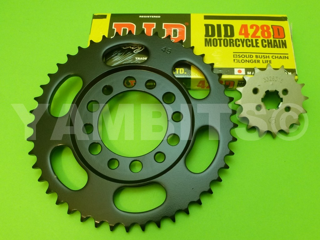 DT125 Chain and Sprocket Kit 1974-75