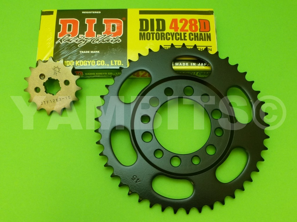 DT125 Chain and Sprocket Kit 1976-77