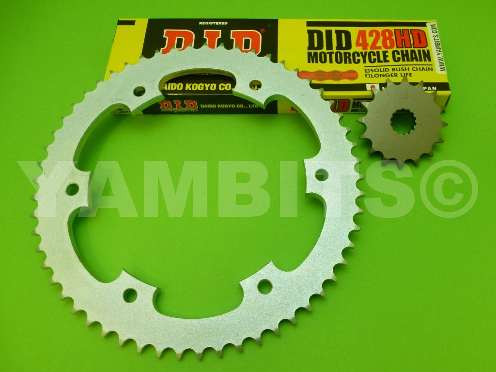 DT125R Chain and Sprocket Kit 1989-2004