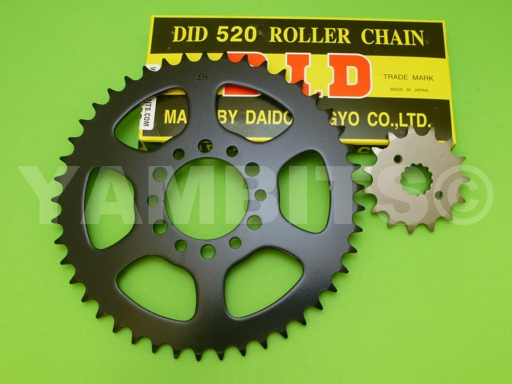 DT250 Chain and Sprocket Kit