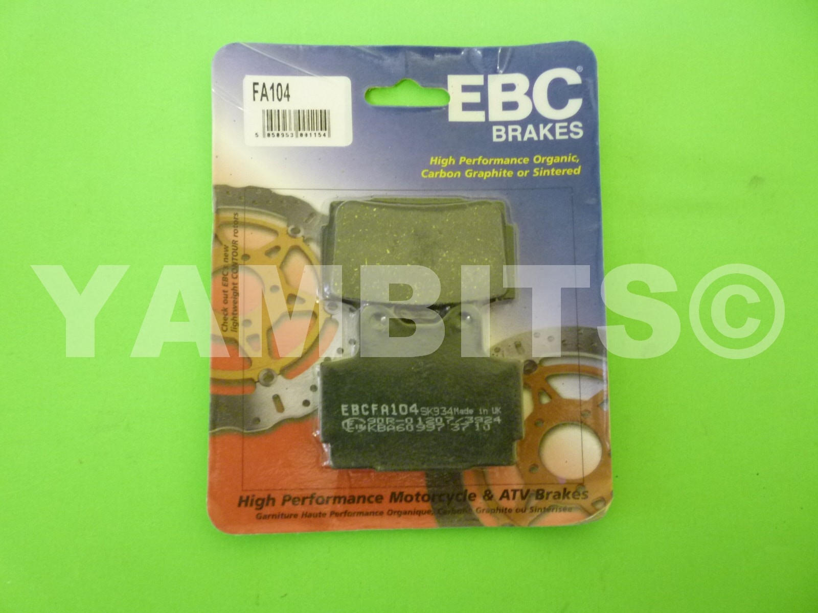TZR250RSP Brake Pads Rear EBC
