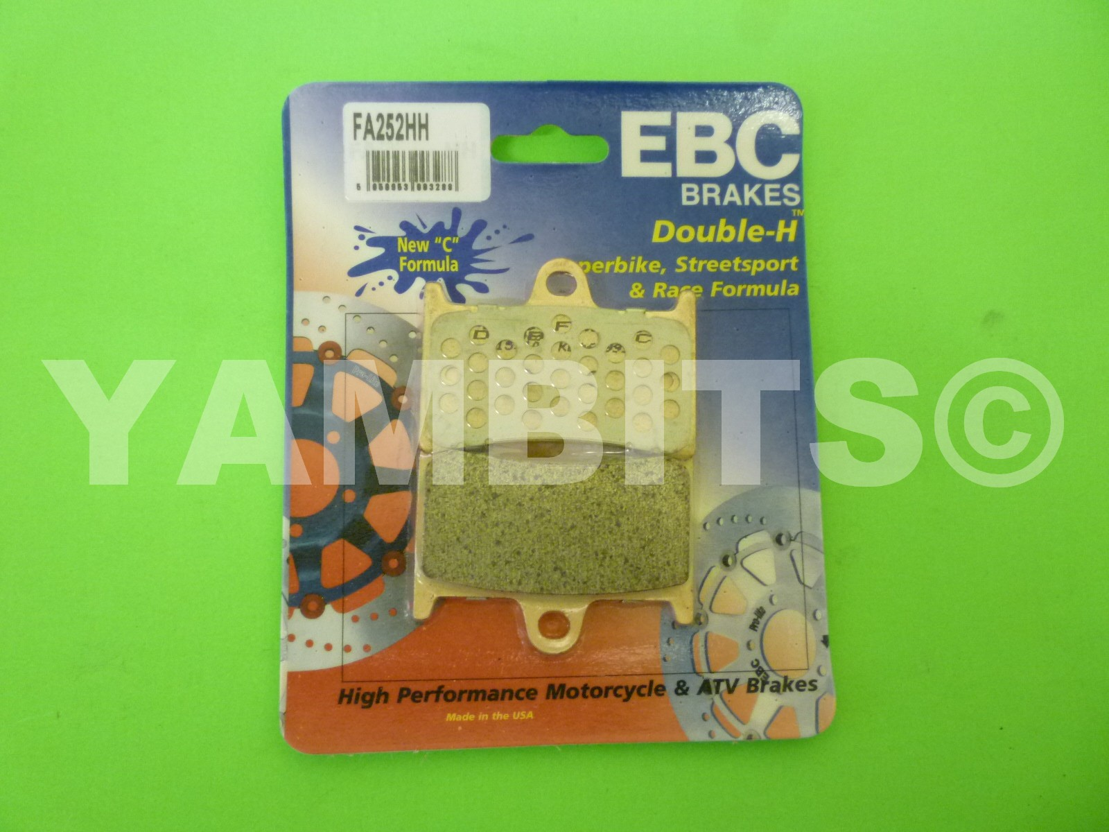 TZR250RSP Brake Pads Front EBC HH Sintered