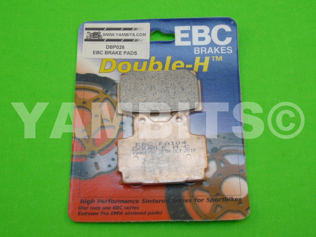 RZ350RR Brake Pads Rear EBC HH Sintered