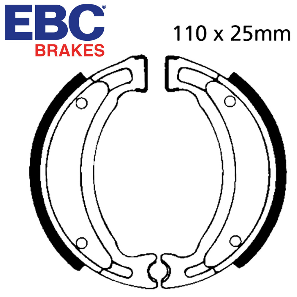 YB100 Brake Shoes Rear EBC 1982-1992