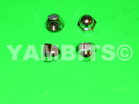 10mm Chrome Dome Shock Absorber Nuts
