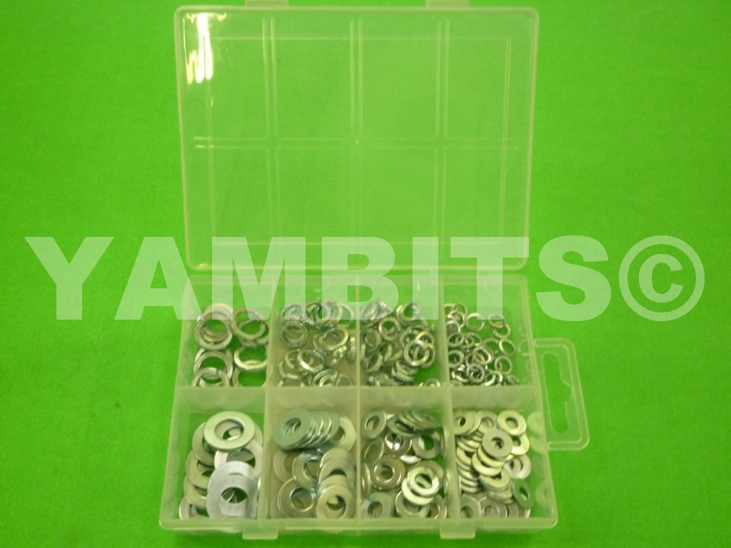 Assorted Pack Of Spring & Flat Washers