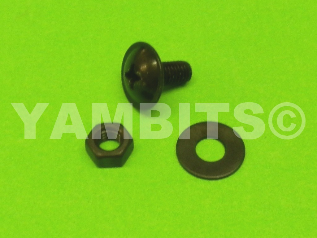 Fairing Panel Bolt Black 13mm C/W Nut & Washer