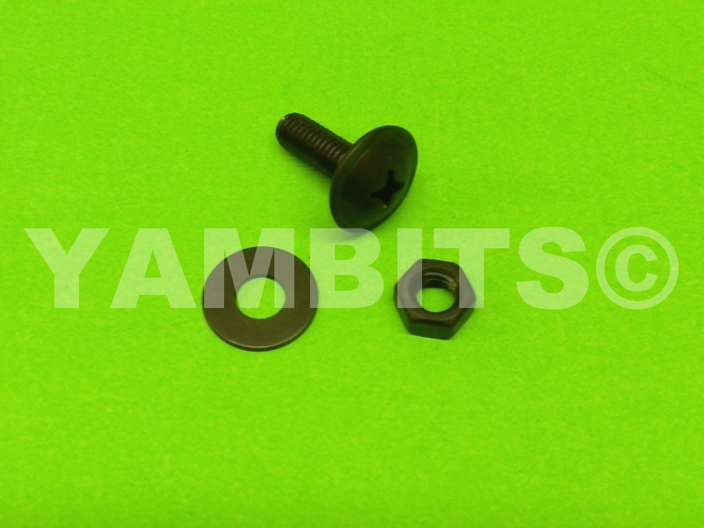 Fairing Panel Bolt Black 18mm C/W Nut & Washer