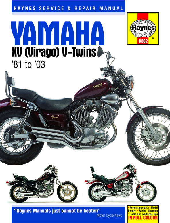 Xv535 Virago Workshop Manual - Man014 - Manuals And Parts Books - Parts By Type