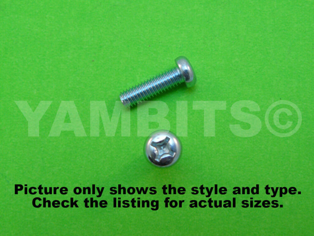 BZP Panhead Screw M6 X 40MM