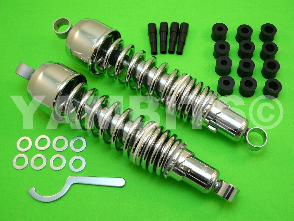 DT360 Rear Shock Absorbers Chrome