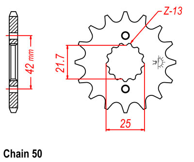 RD350 Sprocket Front Std -1T (15T)
