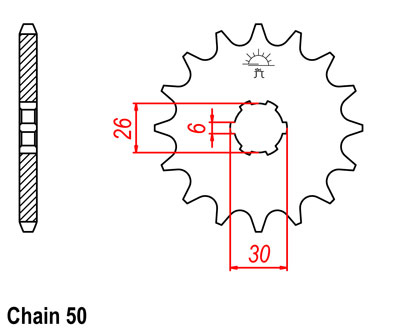 XS650SE Sprocket Front (17T) Std