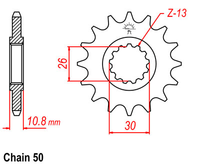 FJ1200A Sprocket Front (15T)