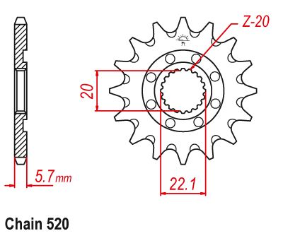 YZ250F Sprocket Front (13T) Std 2001-2017