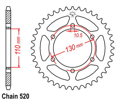 Yzf 520 45t Alloy Race Rear Sprocket P 7680