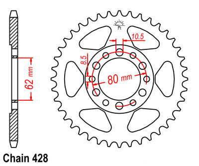 Chains Sprockets Rear Sprockets C 241 82 28 140 likewise  on yamaha as3 wiring diagram