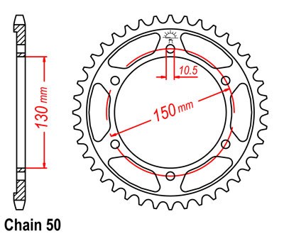 FJ1200A Sprocket Rear (48T)