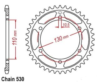 XJR1300 Sprocket Rear (39T) 2010-2015