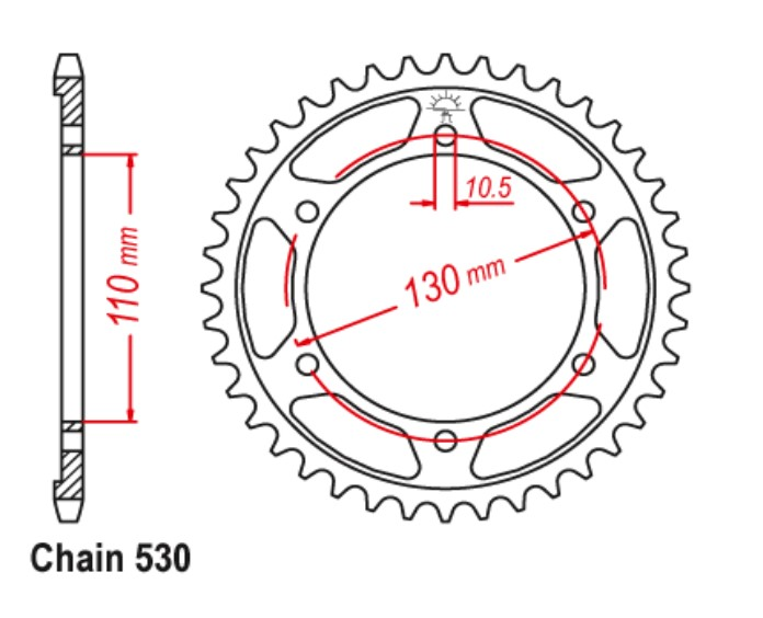XJR1300 Sprocket Rear (38T) 2009