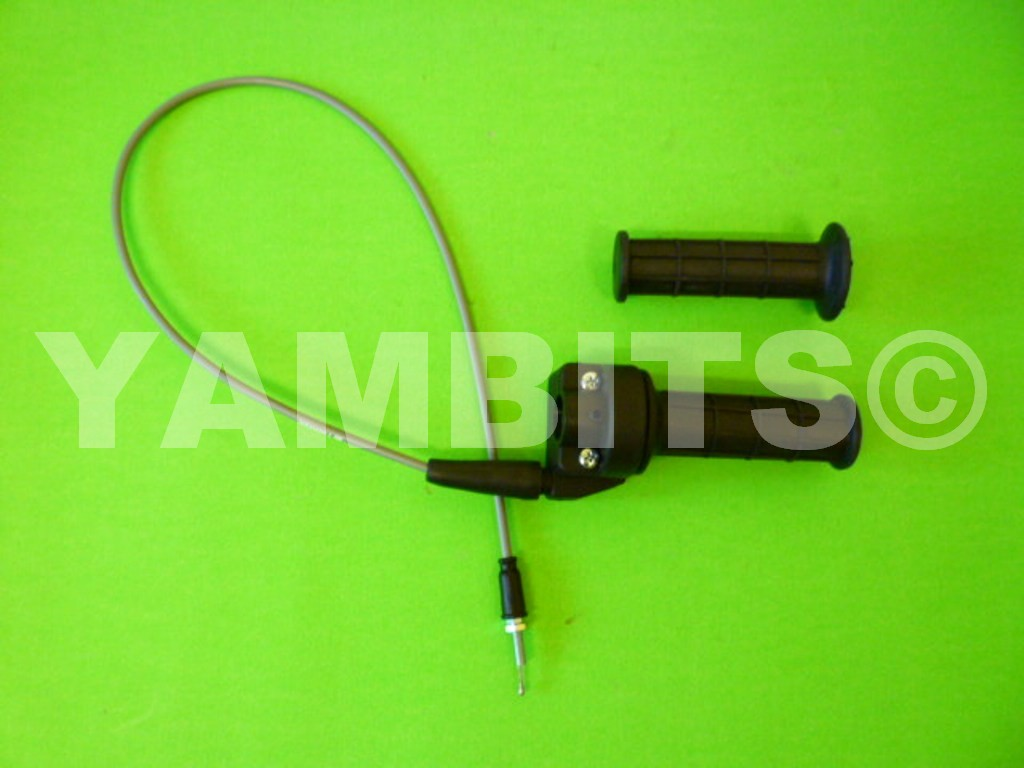 TY80 Twist Grip & Throttle Cable Assembly