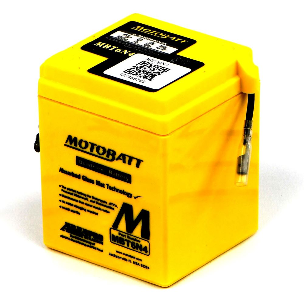 YB100 Battery Motobatt - Sealed 1979-1992