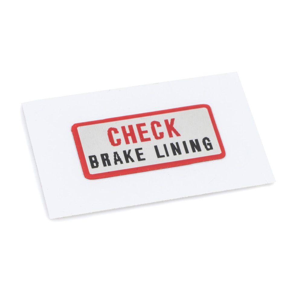DT400 Brake Plate Warning Decal