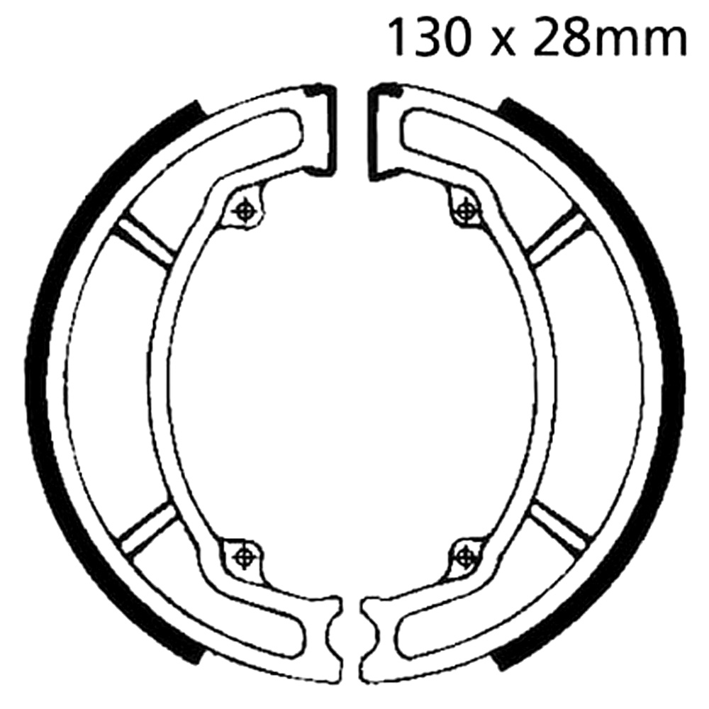 AS1 Brake Shoes Rear EBC