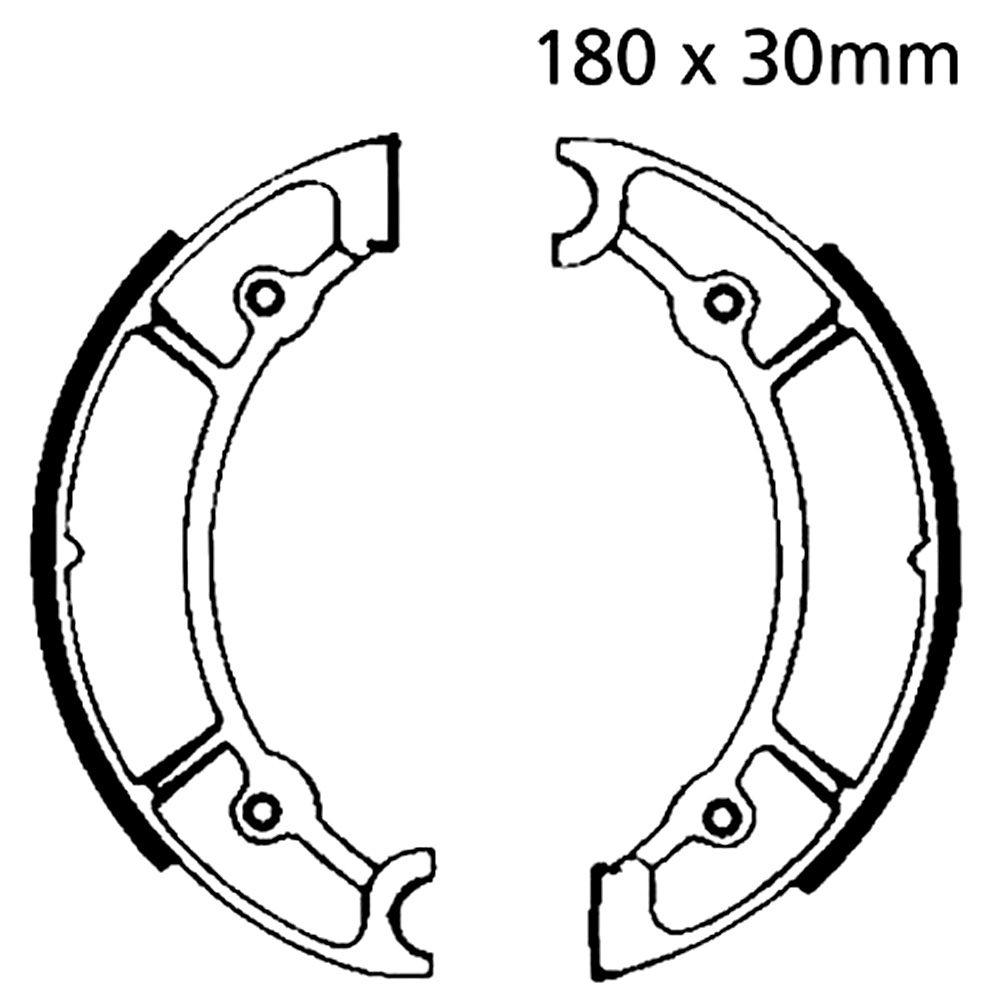 CS2 Brake Shoes Front EBC