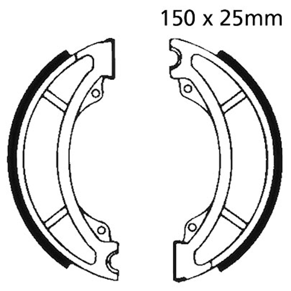 AS3 Brake Shoes Front EBC