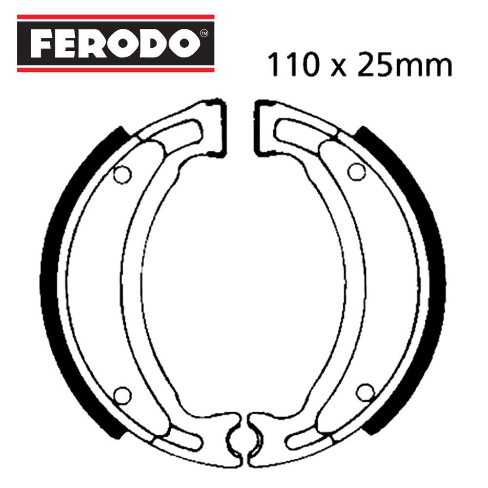 YB100 Brake Shoes Rear Ferodo 1982-1992