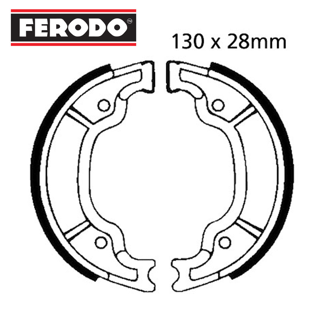 XV125 Virago Brake Shoes Rear Ferodo