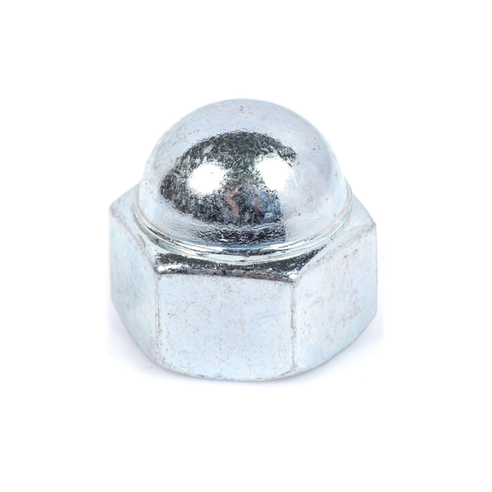 M10 BZP Dome Nut (14mm Hex)